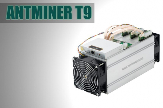 Antminer T9 (10,5 Th/s) with power